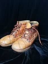 Vintage Vtg Connie Genuine Quilted Leather Size 7 Very Nice Retro Clean