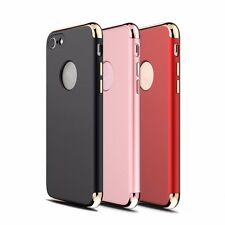 For iPhone 7 Luxury Ultra Thin Hybrid Slim Hard Case Cover (Black w/ G