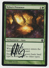 Signed Nylea's Presence NM/M Theros Artist Ralph Horsley MTG Nate's Magic Cards!