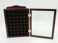 Wooden Thimble Cabinet Display / Storage Case With Glass Door # T66