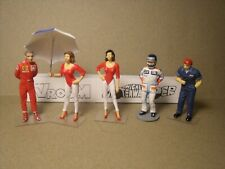 5  FIGURINES 1/43  SET 452  F1  SHOW  GIRLS  VROOM  NOT  PAINTED  SPARK  BIZARRE