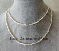 echte kultivierte winzige 2-3mm weiße barocke Süßwasser Perlenkette 33 Zoll