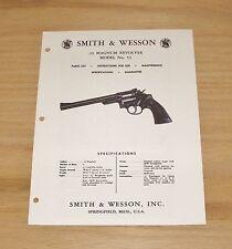 Smith & Wesson  .22 Magnum Revolver Manual - Model 53 - #SW20