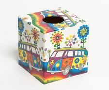 V.W Camper Van Tissue Box Cover Holder wooden handmade in UK