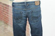 Mens Diesel Jeans W34 L32 Regular Dark Blue denim 34R Straight Leg LARKEE Indigo