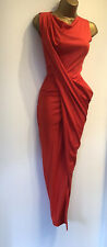 VIVIENNE WESTWOOD RED Deconstructed Asymmetric Wiggle Party Dress SIZE XS 6 8