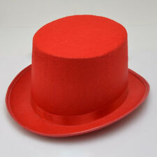 Child Red Top Hat Dance Magician Victorian Fancy Dress Accessory Kids #HD3