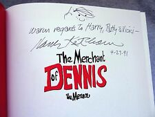 Hank Ketcham Signed Dennis The Menace Book Cel Drawing Sketch The Merchant Of