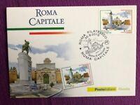 """2010 Cartolina Filatelica  FDC """"Roma Capitale"""" Annullo ROMA FILATELICO"""
