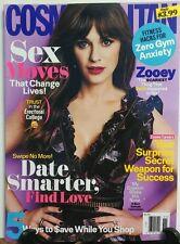 Cosmopolitan November 2016 Zooey Deschanel Sex Moves Date Smart FREE SHIPPING sb