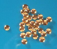 100 gold plated, 7mm diameter bead caps, findings for jewellery making crafts