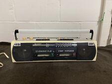 Retro Sharp Stereo Cassette Recorder Twin Tape Ghetto Blaster WQ-268E