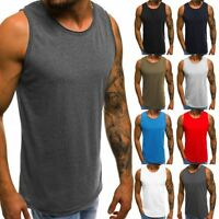 Men Muscle Bodybuilding Sleeveless Shirt Tank Top Gym Fitness Sport Vest Soft