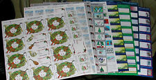 1991 - 2000 Christmas Seals - 9 Full Mint Sheets!