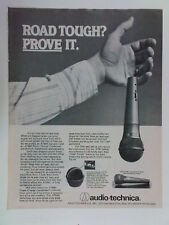 retro magazine advert 1982 AUDIO TECHNICA microphone