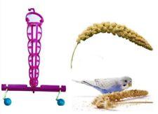 *Caged Bird Millet Perch + Bells Budgies Canaries Cockatiels Conures Cockatoos