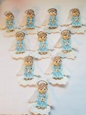 10 pcs ANGELS Baptism/ 1st communion foam decorations for boy