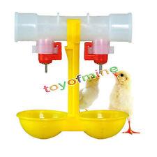 Automatic Poultry Feed Water Bird Coop Chicken Fowl 2-Head Double Head Drinker