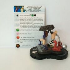 Heroclix The Invincible Iron Man Absorbing Man and Titania #044 SR NM W/ Card