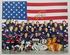 Meghan Duggan Signed 8x10 Photo 2018 Team USA Women's Hockey Olympic Legend Gold