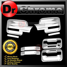 09-14 Ford F150 Chrome Mirror+2 Door Handle+keypad+no PSG keyhole Cover COMBO