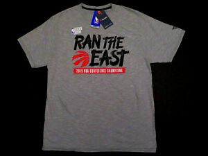 NEW Fanatics Toronto Raptors 2019 Eastern Conference Champions T Shirt L LARGE