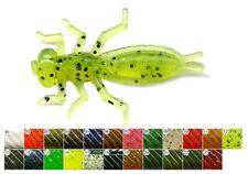12 leurres souples larve insecte libellule Beetle PERCH'IK 40mm pêche perches