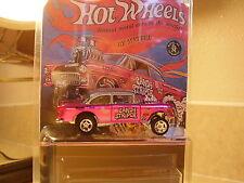 "Hot wheels super ** CUSTOM ** 55 CHEVY GASSER CANDY STRIPER "" treasure hunt USA"