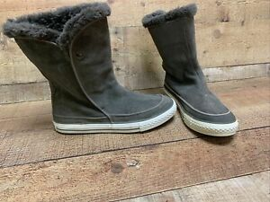 Converse  Chuck Taylor All Star Grey Suede Leather Beverly Boots Women's Size 7