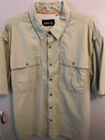 Orvis Men's Outdoor Vented Fishing Shirt Button Front S/S Green Size XL