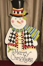 My Hand Painted Snowman And Mackenzie Childs Napkin!