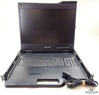 "Belkin 19"" Widescreen LCD Rack Console Monitor - F1DC108H - Rack Mount - READ"