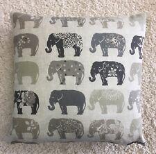 Summer Print Elephant Greys 100% Cotton Cushion Cover Pillow Case 43cm UK MADE