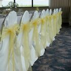 1~200pcs Organza Sashes Chair Bow Covers Wedding Party Festival Decor Wholesale