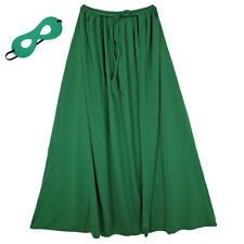 "28"" Child Green Superhero Cape & Mask Costume Set ~ HALLOWEEN COSTUME PARTY"