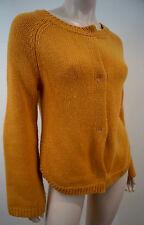MANOUSH Orange Mustard Metallic Pink Apple Glitter Detail Knit Cardigan Top Sz:S