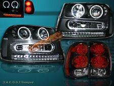 02-09 CHEVY TRAILBLAZER LED CCFL HALO PROJECTOR HEADLIGHTS + LED TAIL LIGHTS