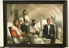 THE PIONEERS , FAMOUS  AFRICAN AMERICANS , OBAMA , MLK, BLACK ART, NICE FRAME