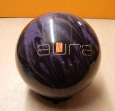 "15# 0oz TW 3 Pin 2.25"" JE2012  Brunswick AURA Bowling Ball Black/Purple Solid"