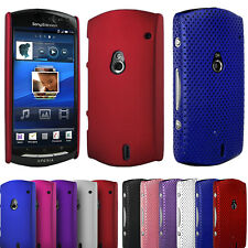 For Sony Ericsson Xperia NEO Hard Back Hybrid Perforated Mesh Net Case Cover UK