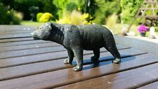 Vintage 1988 Black Bear Heavy Solid Plastic Toy Collectable Rare 12cm long
