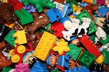 Lego DUPLO 1 kg gemischt Steine Häuser Wände Autos Figuren  Konvolut Tiere