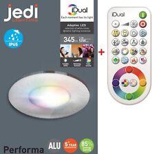 1-Kit iDual LED Einbaustrahler Performa RGB jedi Einbauleuchte stahl Controller