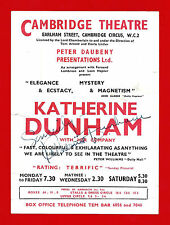 KATHERINE DUNHAM (Signed) with her Dancers, Singers, Musicians 1952 London Flyer