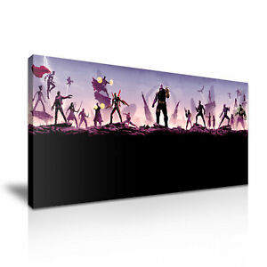 Avengers Endgame Iron Man Captain America Thor Stretched Canvas ~ More Size
