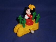 """Vintage Disney Parade Minnie Mouse White Knob Windup Toy by Burger King 1991 2½"""""""