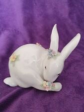 More details for lladro bunny with flowers