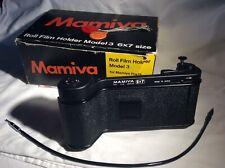 Mamiya Press Super 23, Model 3, 6x7 roll film holder