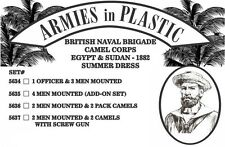 Armies in Plastic - Naval Brigade Camel Corps Summer Men & Pack Camels 54mm 5636