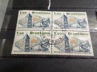 FRANCE 1983, BLOC timbres 2253, BRANTOME, TOURISTIQUE, oblitéré CACHET ROND